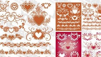 Vector Accommodates A Heartshaped Pattern With Lace Material Element Flower Vector Art