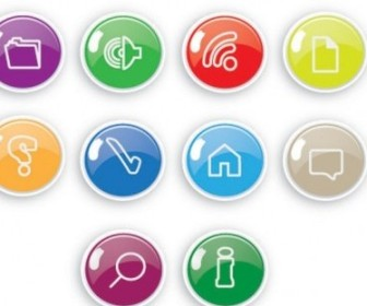 Vector Exquisite Button Icons 06 Icon Vector Graphics