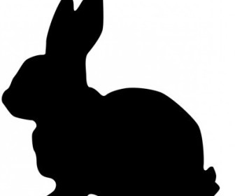 Vector Rabbit Silhouette Vector Clip Art