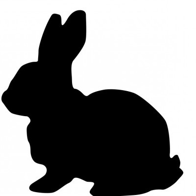 Vector Rabbit Silhouette Vector Clip Art - Ai, Svg, Eps ...