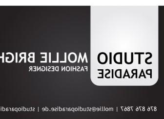 Vector Black Bold Glossy Business Card Vector Art