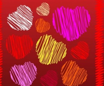 Vector Scribbles Heart Vector Art