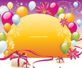 Vector Balloon Gift Card Background Vector Art