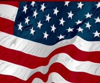 Vector American Flag 001 Nature Vector Graphics