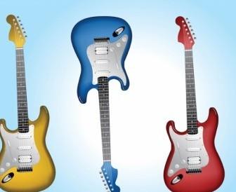 Vector Electric Guitars Vector Art