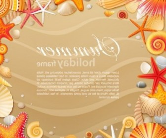 Vector Starfish Shell 02 Vector Art