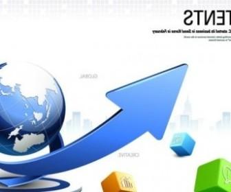 Vector Creative Cube Arrow 2 Business Posters Vector Art