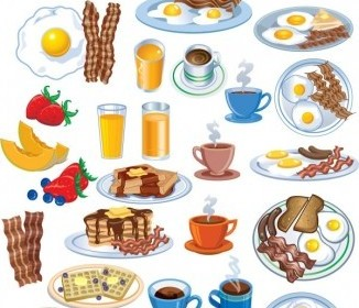 Vector Breakfast Vector Art