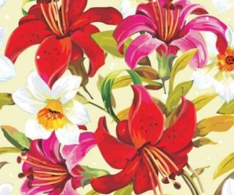 Vector Beautiful Floral Flowers Background Vector Art