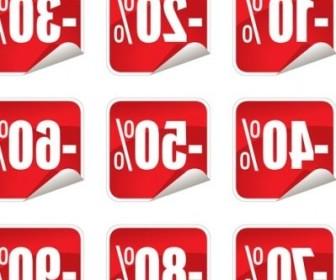 Vector Sale Stickers Icon Vector Graphics