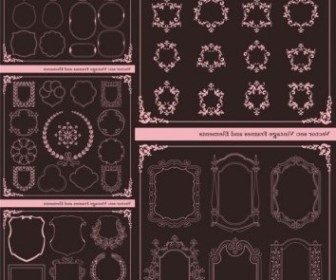 Vector Europeanstyle Lace Border Classic Vector Art
