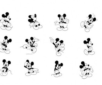 Vector Mickey Mouse 5 Logo Vector Art