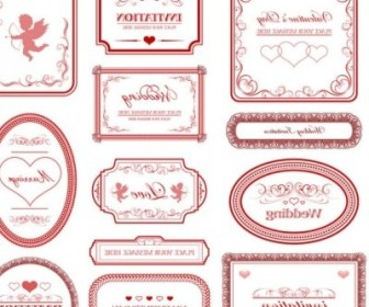 Vector Europeanstyle Love Border Pattern Vector Art