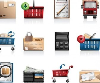 Vector Shopping Icon Vector Graphics