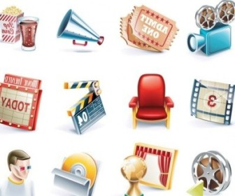 Vector Movie 1 Icon Vector Graphics