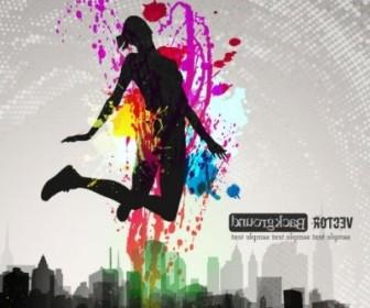 Vector Fashion Color Splash 05 Background Vector Art