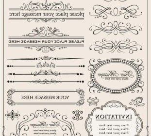 Vector Europeanstyle Lace Border 03 Vector Art