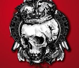 Vector Skull With Crown Vector Art