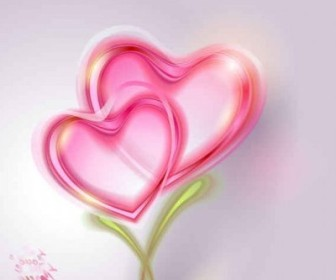 Vector Pink Valentine Card Background Vector Art
