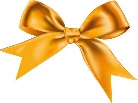 Vector Yellow Ribbon Vector Art