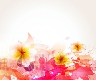 Vector Beautiful Flowers Background 05 Flower Vector Art