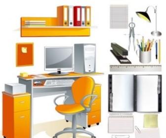 Vector Office Supplies Stationery Vector Art