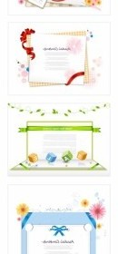 Vector Paper Ribbon Theme Vector Art