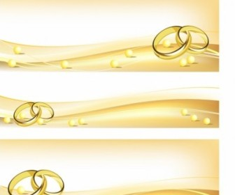 Vector Wedding Banners Backgrounds Vector Banner