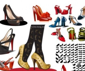 Vector Women High Heels People Vector Art