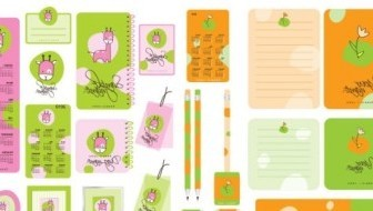 Vector Cute Stationery Cartoon Vector Art