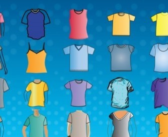Vector TShirt Template Vector Art