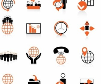 Vector Global Business Icons Icon Vector Graphics