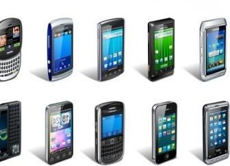 Vector Wide Range Of Smart Phone Vector Art