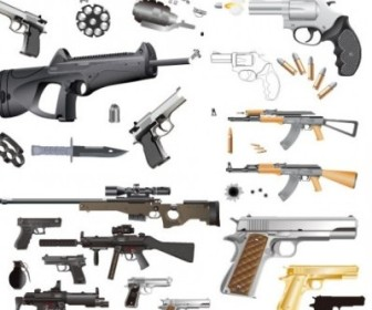 Vector Guns And Ammunition Vector Art