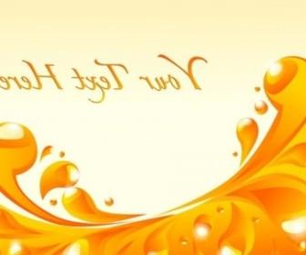 Vector Orange Liquid 1 Background Vector Art