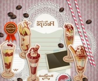 Vector Handpainted Dessert Stickers 01 Vector Art