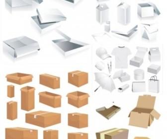 Vector And Carton Box Template Vector Art