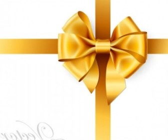 Vector Beautiful Ribbon Bow 01 Vector Art