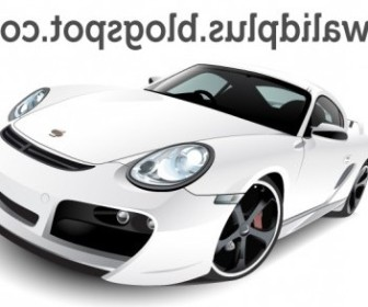 Vector Porshe Car Vector Art