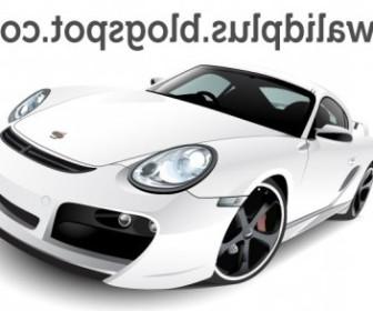 Vector Porshe Car Vector Art