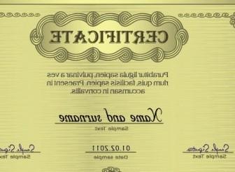 Vector European Certificate 04 Vector Art
