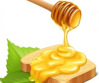 Vector Honey Bread Vector Art