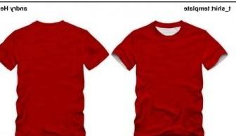 Vector Tshirt Template Vector Art