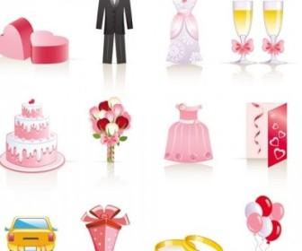 Vector Pink Wedding Jewelry Cartoon Vector Art