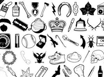 Vector Black And White Daily Vector Clip Art