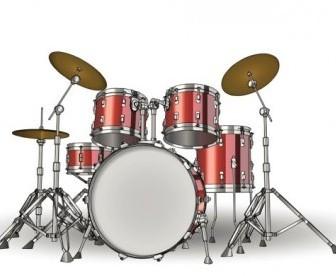 Vector Fine Drums 01 Vector Art