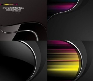 Vector Dynamic Trend Of The Black Background Vector Art