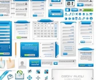 Vector Web Design Elements 02 Vector Art