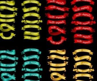 Vector Ribbon 12 4 Colors Vector Art