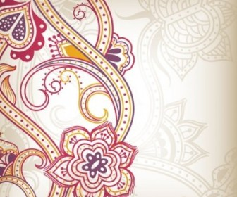 Vector Floral Pattern Background 03 Abstract Vector Graphics